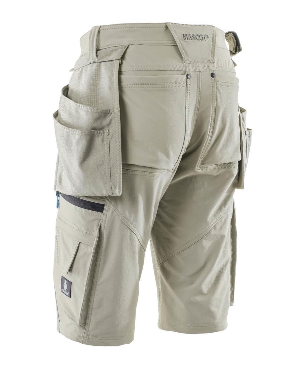 Shorts with detachable holster pockets