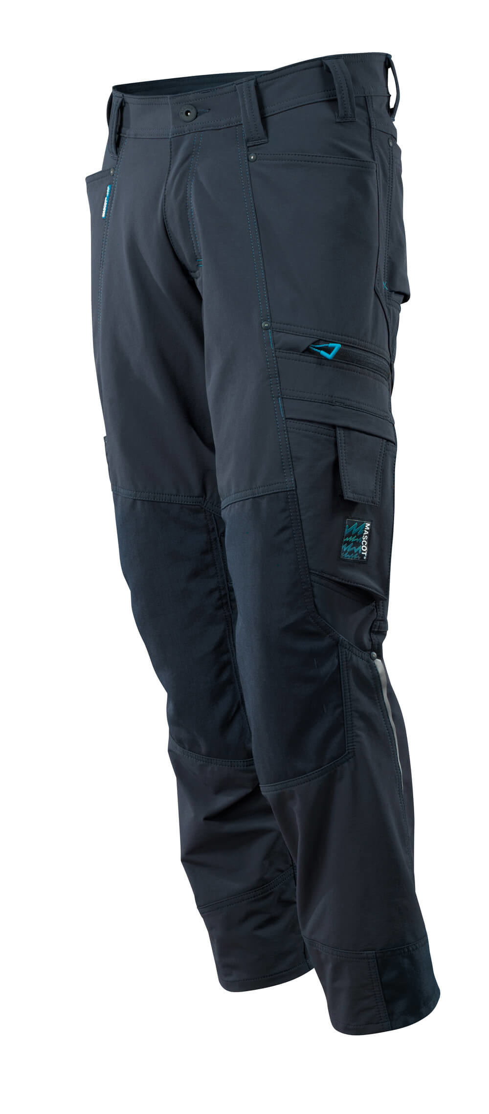 Trousers with kneepad pockets, stretch