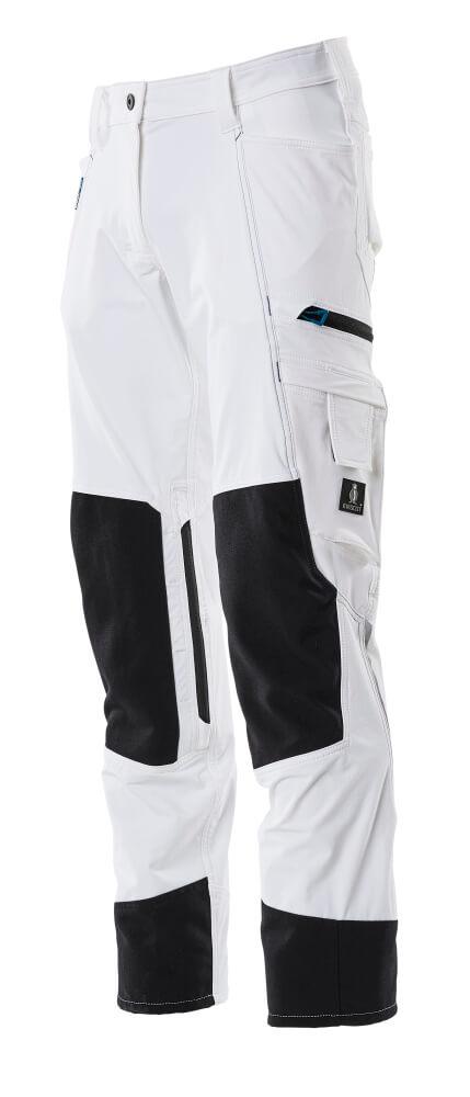 Trousers, kneepad pockets, ladies, pearl